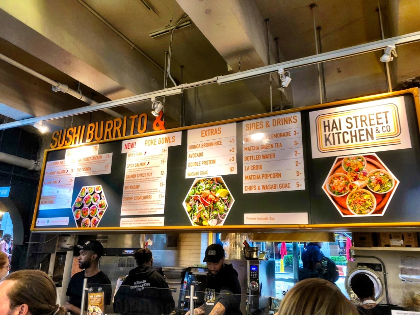 kyroshtravels.com - Sushi Burrito, Urbanspace Vanderbuilt Food Hall, New York City